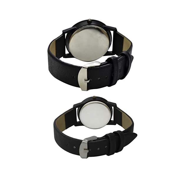 REMIXON Couple Watch with Half Love White Dial Men & Women Analog Watch - for Couple