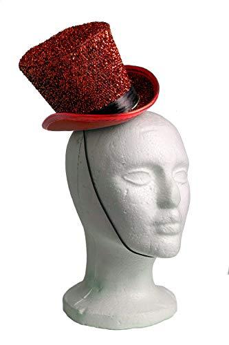 Arsimus Mardi Gras St. Patrick's Day Leprechaun Mini Party Hat (Red) -