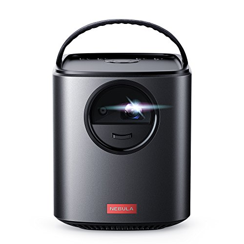 Nebula, by Anker, Mars II 300 ANSI lm Portable Projector with 720p DLP Picture, 10W Speakers, Android 7.1, 1-Second Autofocus, 30-150' Screen, 4-Hour Playtime, Broad Connectivity, and Screen Casting