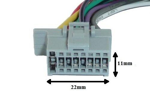 Panasonic DIN ISO Auto Radio Adaptador Cable conector