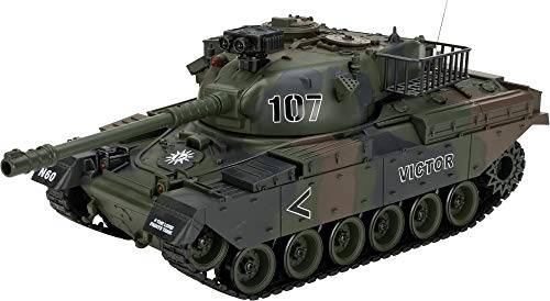 Evike 1:20 Scale RC Airsoft BB Firing Battle Tank (Color: M60 / Woodland Camo)