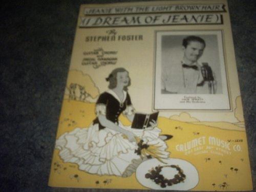 Jeanie with the Light Brown Hair Sheet Music (JACK SPRATT)