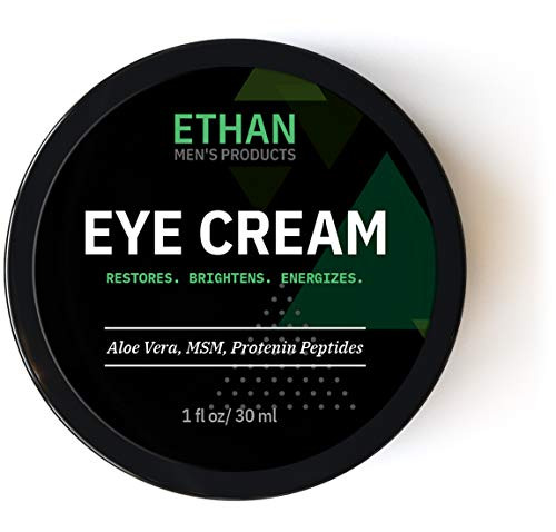 Restoring Eye Cream For Men - Ethan. Anti-aging Eye Balm to Reduce Wrinkles, Puffiness, Crows Feet, Dark Circles & Under Eye Bags. Made with Natural and Organic Ingredients. 1-Year Guarantee (1oz)