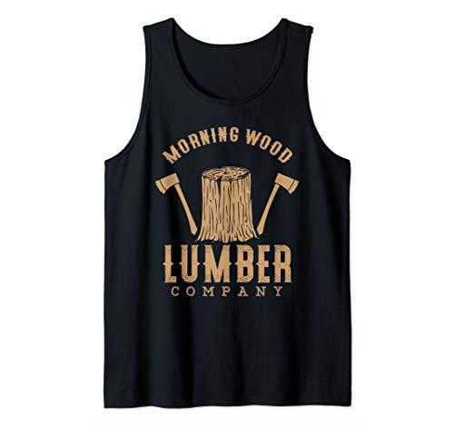 Morning Wood Lumber Company Funny Campfire Outdoors Camping Tank Top