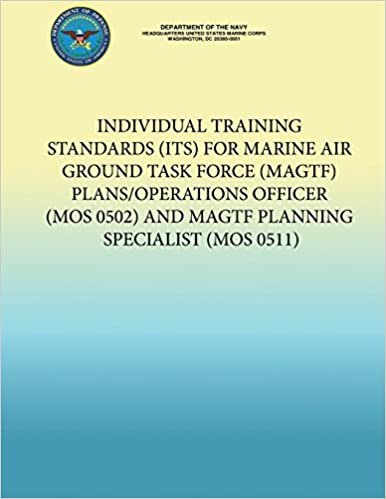 Individual Training Standards (ITS) for Marine Air Ground Task Force (MAGTF) Plans/Operations Officer (MOS 0502) and MAGTF Planning Specialist (MOS 0511)