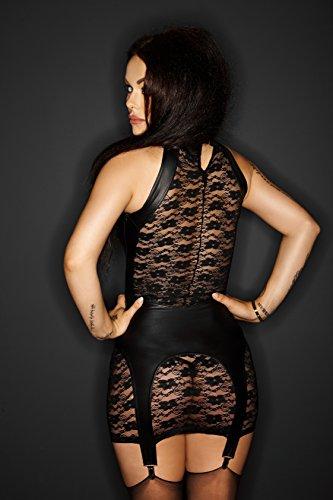 Kleid mit Strumpfhaltergürtel NASTY Spitze & Wetlook