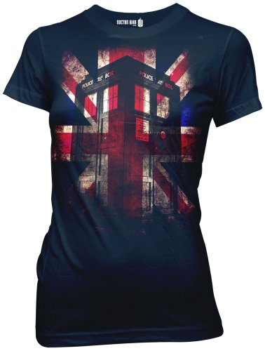 Ripple Junction Doctor Who Tardis Union Jack Glow Junior T-Shirt