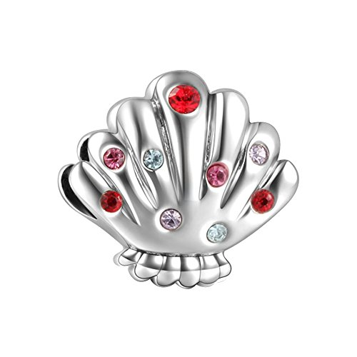 Soufeel 925 Argent Pearl Shell Charm Compatible Européen Bracelet Pour Charms Colliers Bracelets