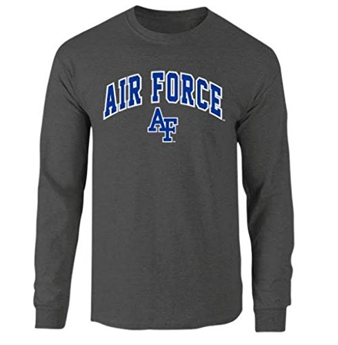 - Elite Fan Shop NCAA Men's Air Force Falcons Long Sleeve Shirt Dark Heather Arch Air Force Falcons Dark Heather XX Large