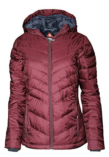 Columbia Women's Discovery Peak III Omni Heat Hooded Puffer Jacket (Bloodstone, S) (Womens Columbia Omni Heat Jacket)
