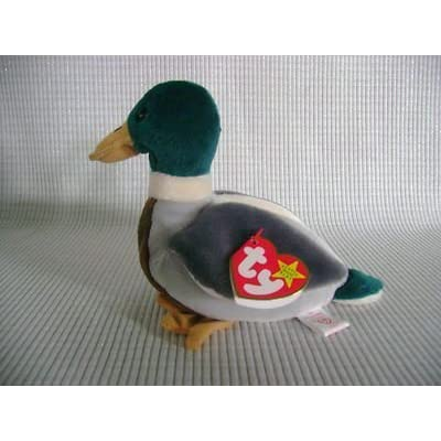 TY BEANIE BABY Mallard Drake Duck Named JAKE THE DRAKE by TY: Toys & Games