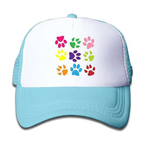 Colorful Paw Prints Dog Cat Pet Kid