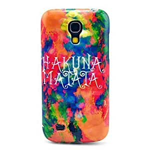 JOE Burning Clouds Hakuna Matata Pattern TPU Soft Back Cover Case for Samsung Galaxy S4 Mini I9190