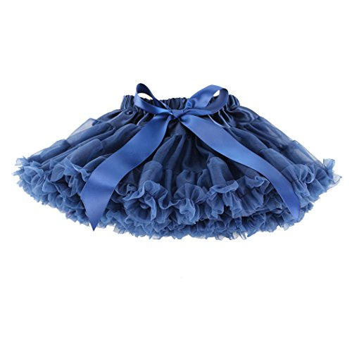 Wennikids Little Girl's Dance Chiffon Pettiskirts Tutu Assorted Size and Color XX-Large Navy Blue -