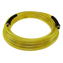 Coilhose Pneumatics PFE40254TY Flexeel Reinforced Polyurethane Air Hose, 1/4-Inch ID, 25-Feet Length with (2) 1/4-Inch MPT Strain Relief Fittings