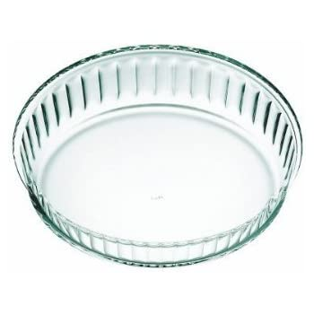 Simax Clear Glass Fluted Cake Dish, Shallow | Heat, Cold and Shock Proof, Made in Europe, 11-Inch