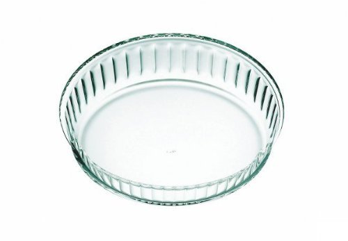 Simax Clear Glass Fluted Cake Dish, Shallow