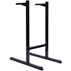 Dip Stand Self Standing Dipping Station Machine Bicep Tricep Shoulder New