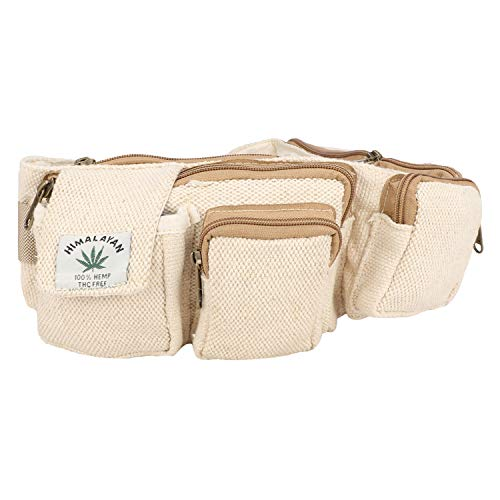 (Hemp Fanny Pack for both Men and Women,Adjustable Waist and Multiple Pockets,Waist Bag & for all purpose)