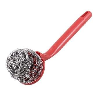 Dish bacia do aço escova de limpeza Spiral 8,3 polegadas Longa Vermelho