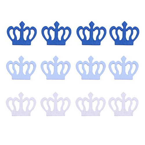 Amosfun 100Pcs Wooden Crown Cut Outs Wood Embellishments Decoration for Restaurant Wall Home (Crown Wall Decoration)