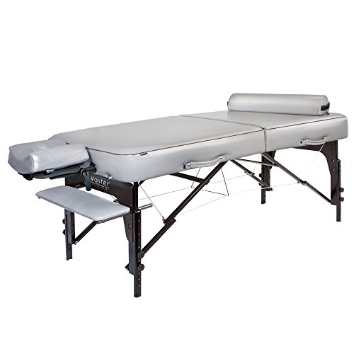 Master Massage 30″ Montour Lx Massage Table Package with 3″ Memory Foam,Dove Grey