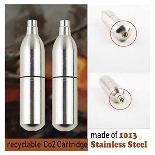 Durable 12g Reusable, can be Filled with CO2 air Gun Paintball air System Accessories (Refillable 12g Co2)