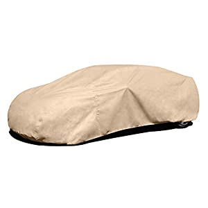 "Budge Protector IV Car Cover Size 3 Fits Cars up to 16'8"" Long (Tan, 4 Layers)"