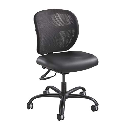 (Safco Products Vue Intensive-Use Task Chair 3397BV, Rated up to 500 lbs, Cool Mesh Back, Waterfall Edge Seat)