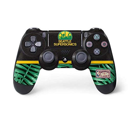 (Skinit Seattle Supersonics Retro Palms PS4 Controller Skin - Officially Licensed NBA Gaming Decal - Ultra Thin, Lightweight Vinyl Decal Protection )