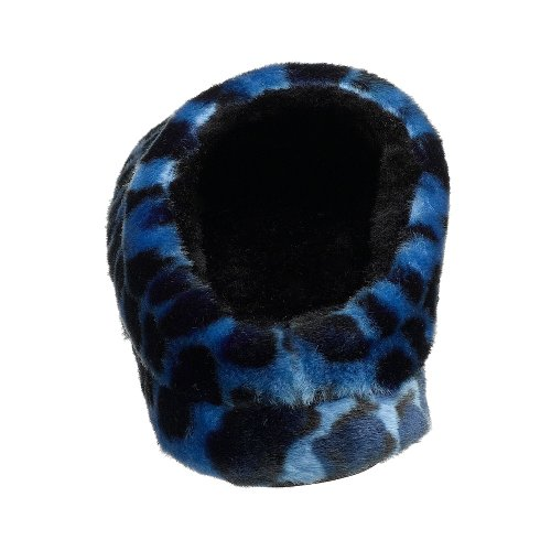 Women's Dearfoams Platform Pile Leopard Royal Argyle Slipper RqAqPw