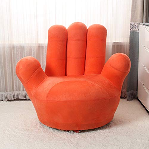 AINIYF Kids Sofa Chair, Baseball Glove Shaped Fingers Style Toddler Armchair Living Room Seat, Children Furniture TV Chair/(35.4x13.8x33.5inches/27.6x11.8x25.6inches) (Color : Orange, Size : 70cm)