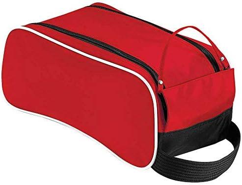 Quadra - Bolsa para zapatillas de deporte (adulto, unisex, talla única) Black/Classic Red/White Talla:tamaño único