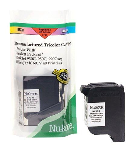 Nu Kote Remanufactured Inkjet (Nu-kote International RF278 Tri-Color Remanufactured Ink Cartridge)