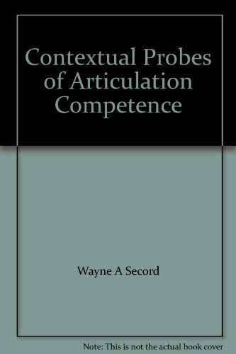 Books : Contextual Probes of Articulation Competence