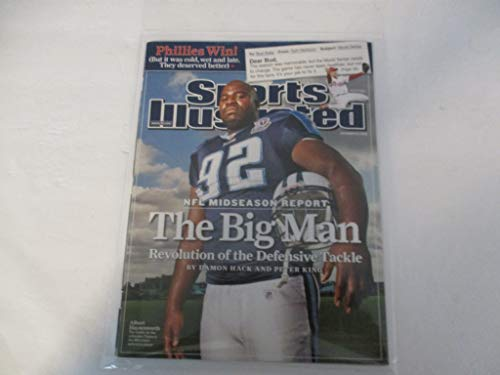 NOVEMBER 10, 2008 SPORTS ILLUSTRATED MAGAZINE FEATURING ALBERT HAYNESWORTH OF THE TENNESSEE TITANS *NFL MIDSEASON REPORT: THE BIG MAN - REVOLUTION OF THE DEFENSIVE TACKLE -BY DAMON HACK AND PETER KING (Titans Revolution Tennessee)
