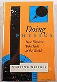 Doing Physics, Martin H. Krieger, 0253331234