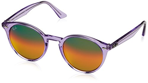 Shiny Violet - Ray-Ban Men's Injected Man Non-Polarized Iridium Round Sunglasses, Shiny Violet, 51 mm