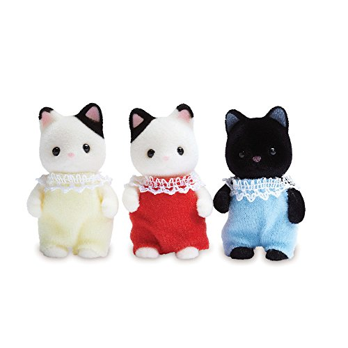 Calico Critters Tuxedo Cat Triplets, 3 Poseable Figures