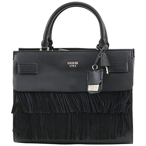 GUESS Women's Cate Satchel Black Handbag