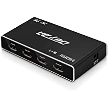 HDMI Switch, Premium 3 Port HDMI Switch Box – HD 4K 1080P 3D HDMI Hub with IR Wireless Remote Control for HDTV Projectors Camcorders Laptop, Monitor HTPC PS3/4, Xbox 360 & more