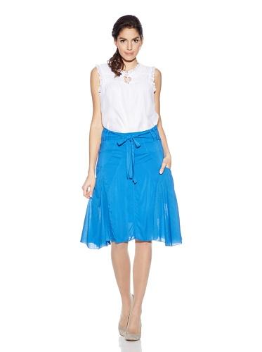 Areline - Falda - Asimétrico - para mujer Azul