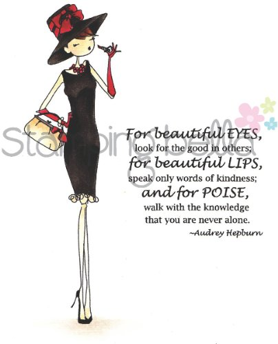 Stamping Bella Cling Rubber Stamp-Uptown Girl Audrey Loves Her Makeup 1 pcs sku# 1782086MA by Stamping Bella