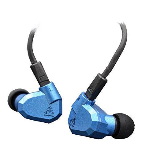 KZ ZS5 Dynamic Hybird Quad Driver High Fidelity In-Ear Headphones, Blue by KZ