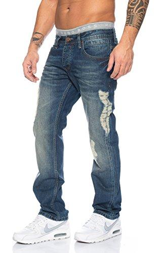 Jeans Blau Uomo Destroyed Lorenzo Loren Straight zRqn5SF