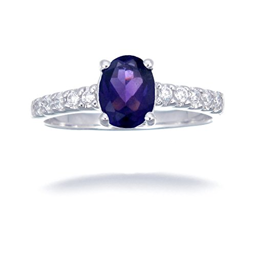 Sterling Silver Amethyst Ring 1.10 CT Size 7