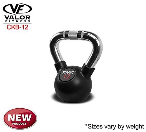 Valor Fitness Chrome Kettlebell, 12 lb