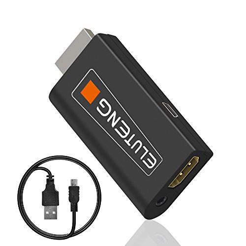 Ps2 Accessories (ELUTENG PS2HDMI Adapter 3.5mm Audio HDMI Converter PS2 to HDMI Adapter 480P Plug and Play HDMI PS2 Adapter for Sony Playstation 2 HDMI Converter)