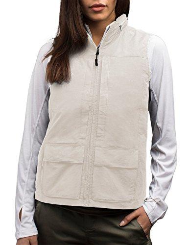 SCOTTeVEST Women's Q.U.E.S.T. Vest - 42 Pockets – Photography, Travel Vest (M2, Beige) by SCOTTeVEST