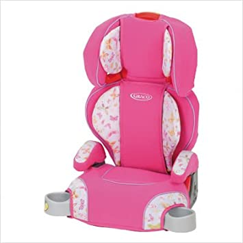 Graco Turbo Booster Car Seat Pink Butterflies